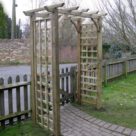 Hever arch installed