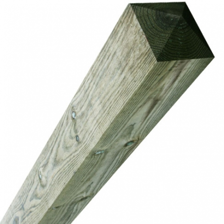 sawn timber fence post 150 x 150mm comes with a four way pointed top at this length