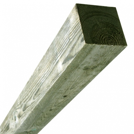sawn timber fence post 175 x 175mm comes flat both end at this length