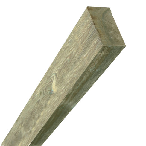 Sawn timber fence post 75x150mm