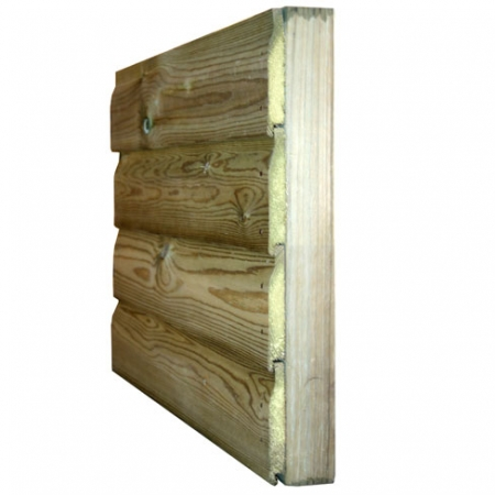 cross section view of shiplap shed cladding