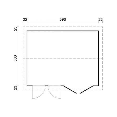 Iris 11.1m² footprint and measurements