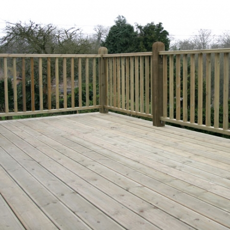 Another grooved and reeded decking and Tate Fencing handrail installation