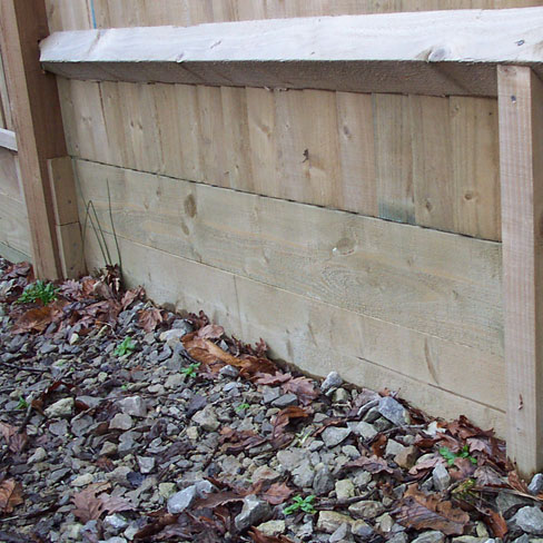 Softwood Gravel Boards - double gravel boards pictured