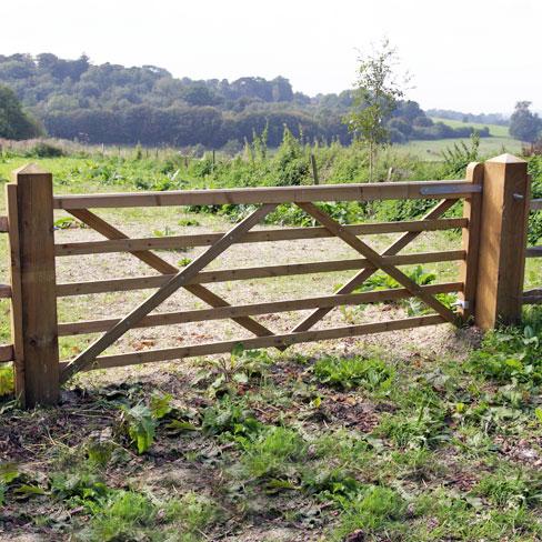 Tanalised softwood Universal Utility field gate