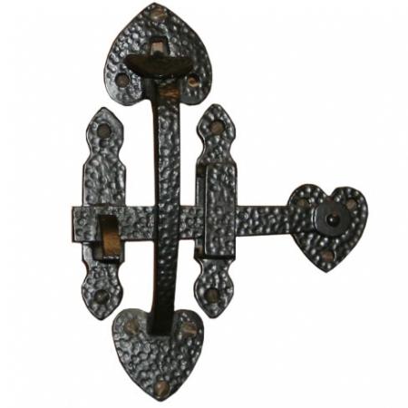Black Ornamental Suffolk Gate Latch