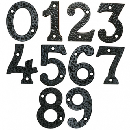 Black Ornamental House Numbers