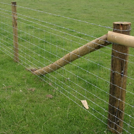 Stock fencing with barbed wire example