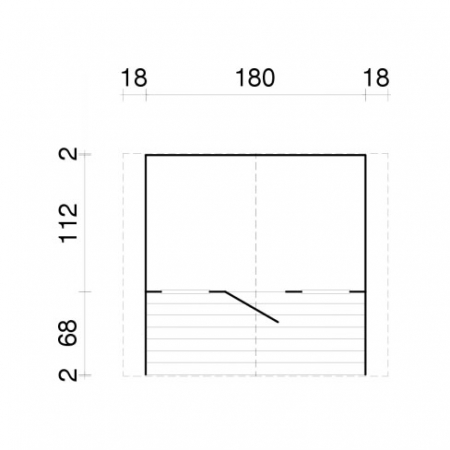 Felix Playhouse footprint and measurements