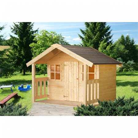 The Felix Playhouse, installed with natural finish