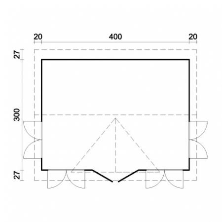 Claudia 11.5m² footprint and measurements