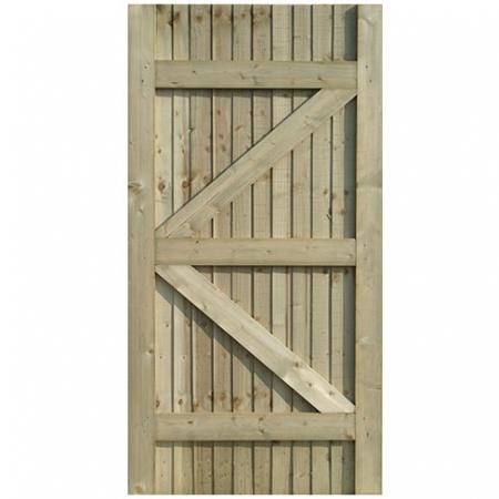 Standard frame Closeboard gate, back view
