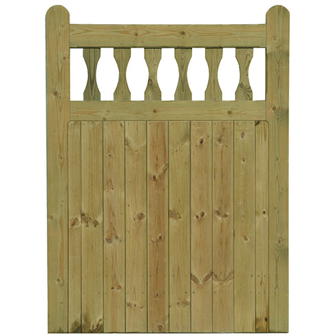 Standard frame Softwood Windsor Gate - front view