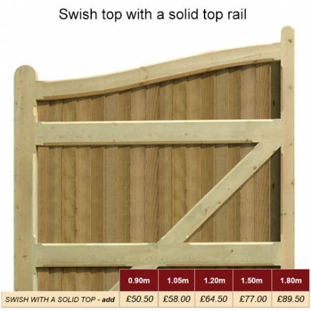 Swish Top with Solid Top Rail Prices