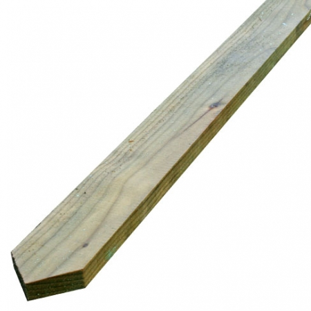 Pointed top sawn finish palisade slat or picket for palisade fencing
