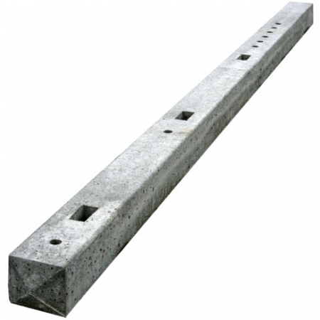 Concrete mortised posts for closeboard or palisade fencing