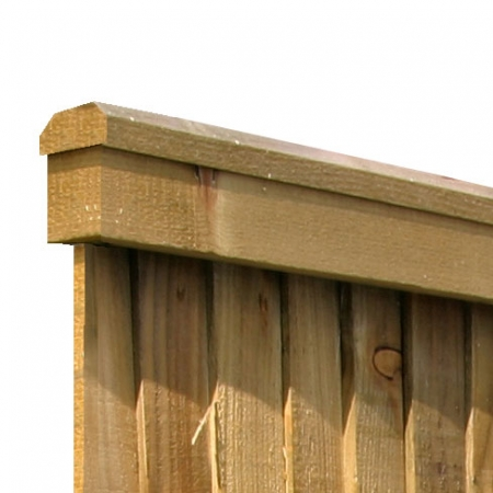 Top capping rail for closeboard fencing