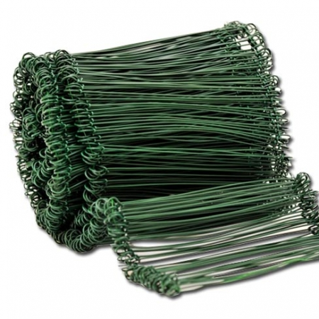 Green Plastic coated pull ties