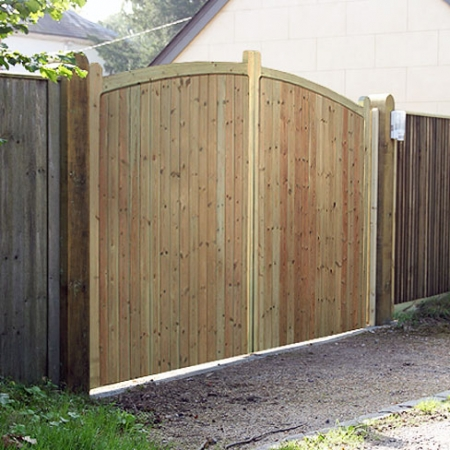 A pair of heavy frame softwood Sherborne gates