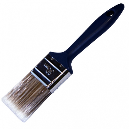 Synthetic bristle paint brush suitable for all paint and varnishes 50mm wide