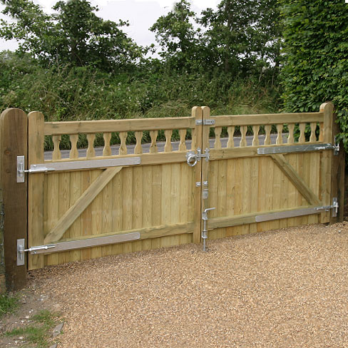 a look at the back of a pair of heavy frame Windsor gates
