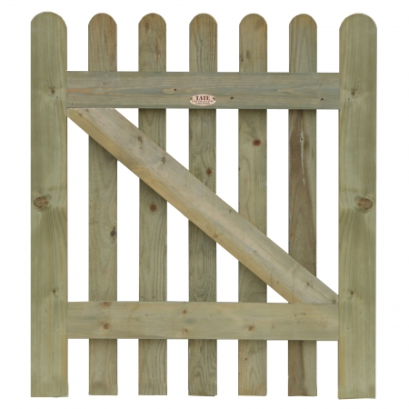 Heavy frame round top Palisade gate