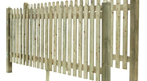 Palisade fencing also know as picket fencing.