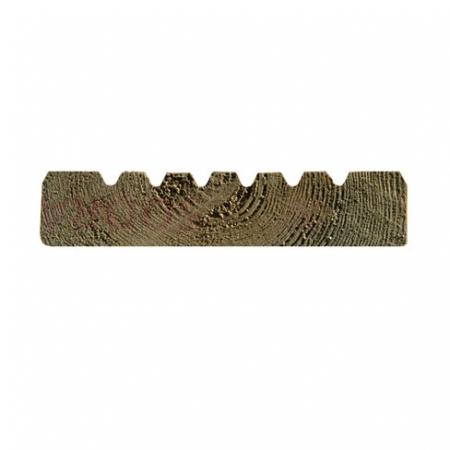 Cross section profile view of the smooth and groove decking