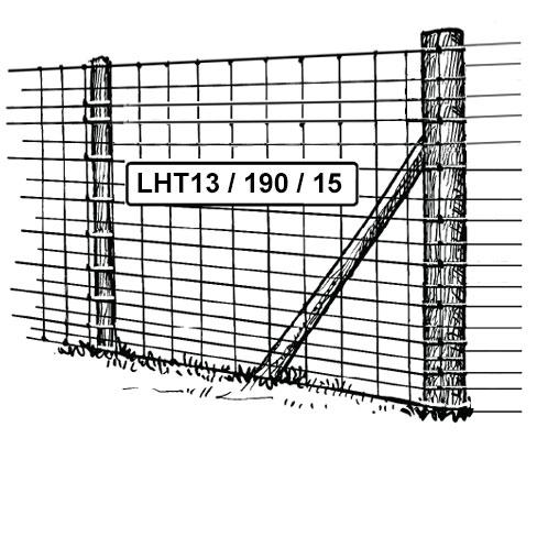 L15/120/15 mild steel stock fencing 1200mm high