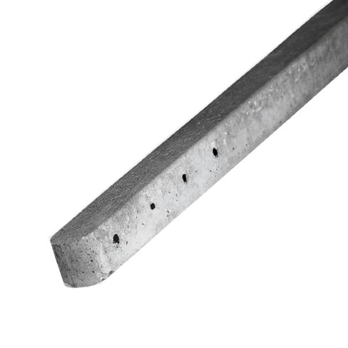 Concrete post for chain link fencing