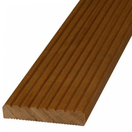 28mm grooved reeded balau hardwood decking