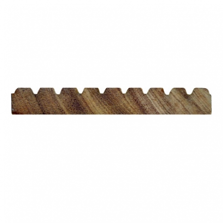 Balau hardwood smooth and grooved decking board cross section profile