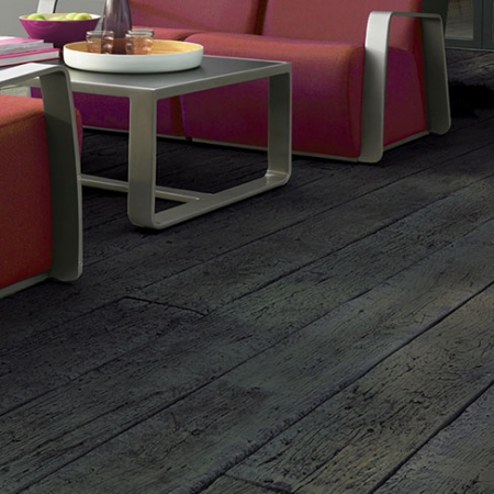 carbonised embered composite deck board installed