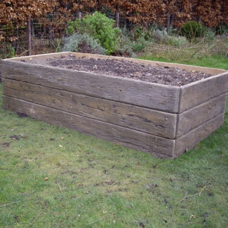 Use decking boards to create a garden planter! - created using Weathered Vintage boards