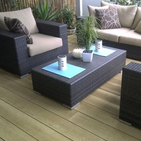Enhanced Grain seating and entertaining area in Golden Oak