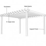 Pergola construction diagram