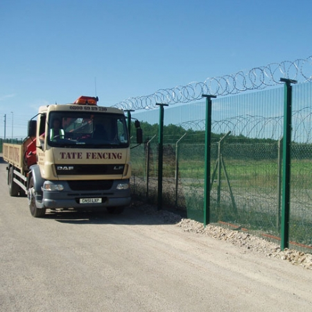 security mesh fencing installed by Tate fencing