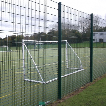 security mesh fencing installed around a sports area