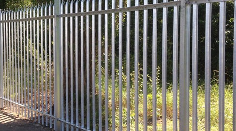 galvanised steel palisade security fencing