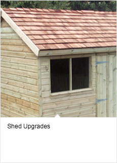 Garden shed upgrades options for sheds