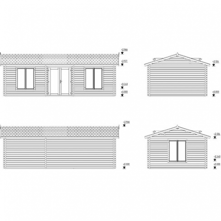 Anna 26.8m² + 1.9m² - Building profiles