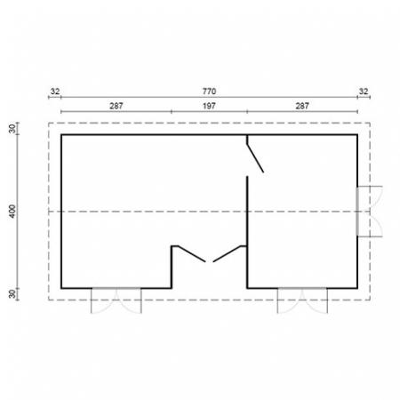 Anna 26.8m² + 1.9m² - Footprint