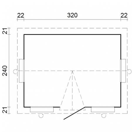Claudia 7.4m² - Footprint