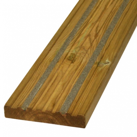 Anti slip 27x144mm grooved decking boards