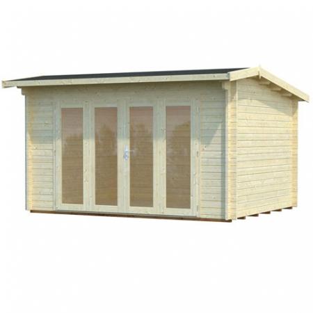 Ines (11.1m²) log cabin footprint