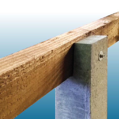 Decking concrete support post