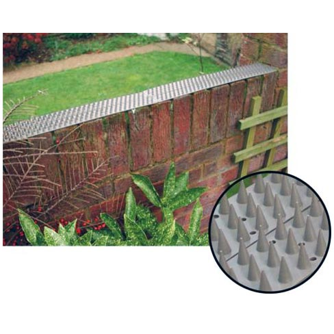 Prikka strip installed on top of a brick wall