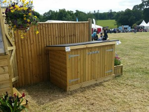 Storage chest with a rubber roof at the Wealden Times Midsummer Fair 2017