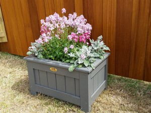 Painted Planters on display at the Wealden Times Midsummer Fair 2017