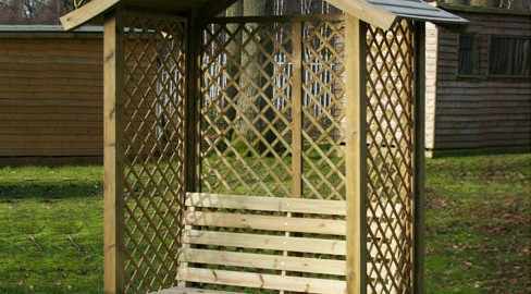 Tate Fencing arbour seats